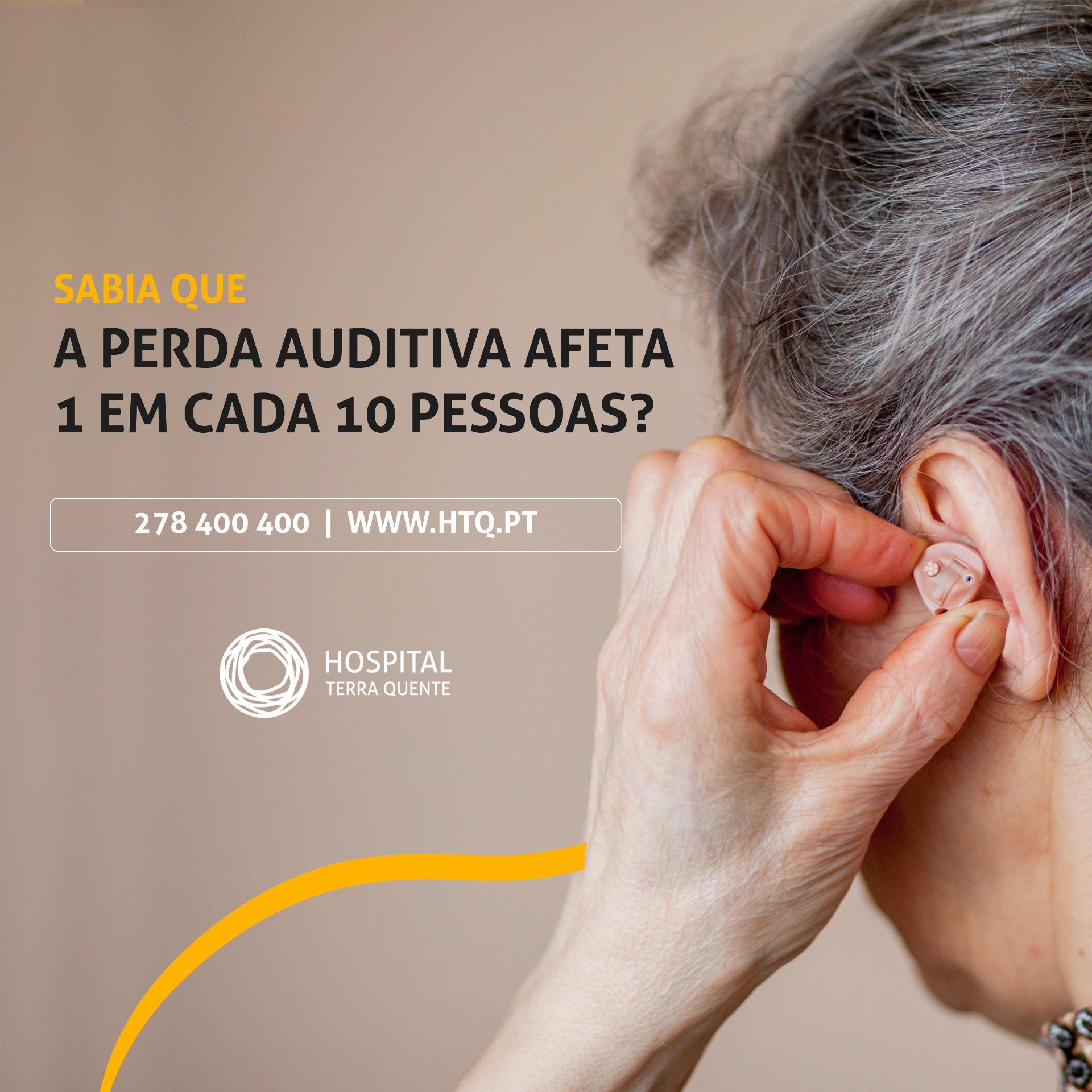 Sabia que a perda auditiva afeta 1 em cada 10 pessoas?